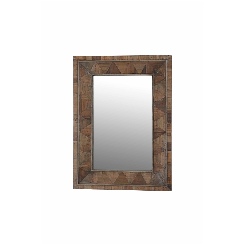 Rectangle Recycled Fir Wood Wide Border Mirror 26 Quot X33 Quot