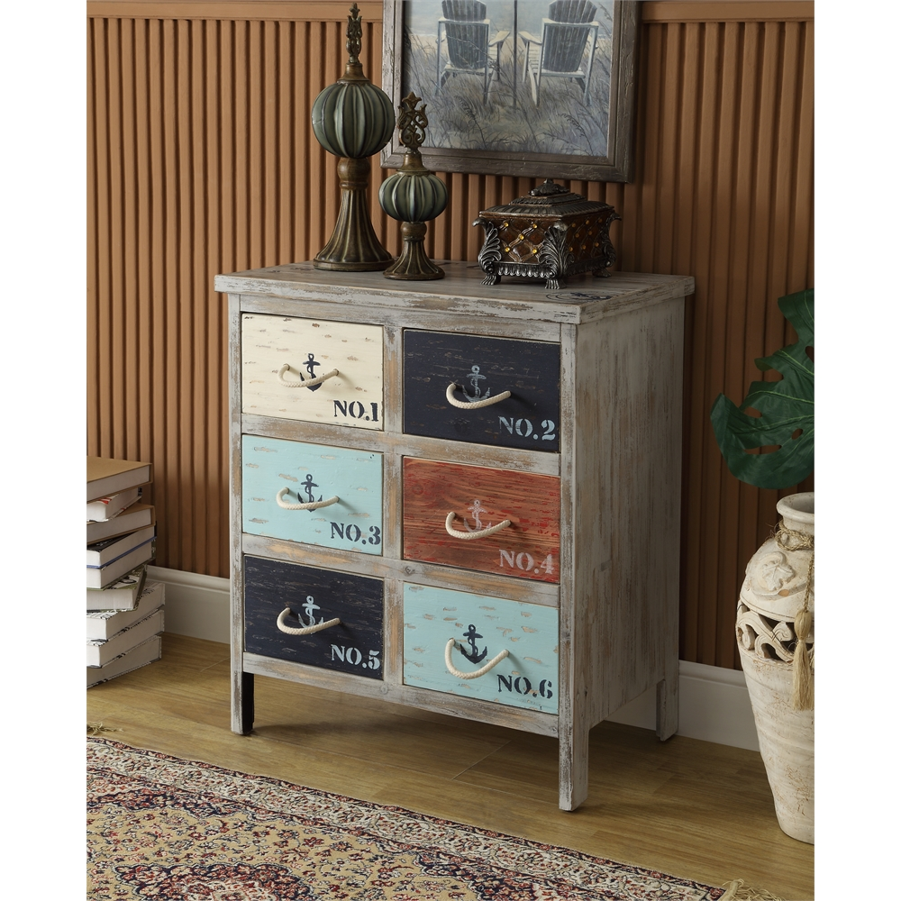 Six Drawer Chest H29 00 Quot Multicolored