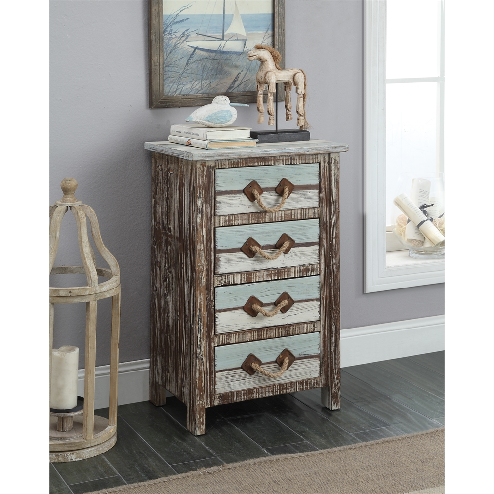 Four Drawer Chest, Islander Multicolor. Picture 3