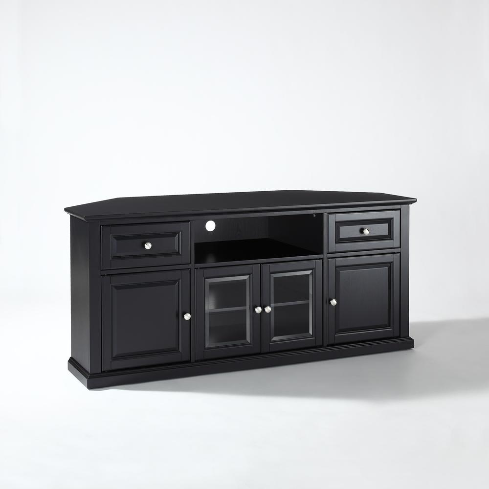 60 Quot Corner Tv Stand In Black