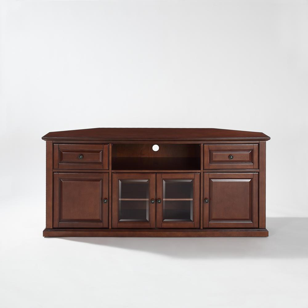 60 Quot Corner Tv Stand In Vintage Mahogany