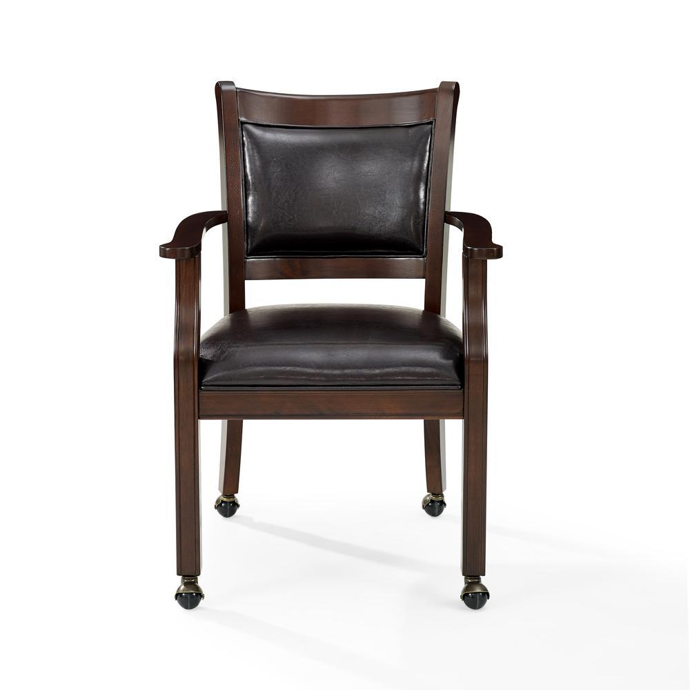 Reynolds Game Chair In Rustic Mahogany 1 Per Carton