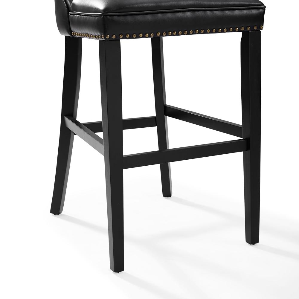 Tilson Bar Stool In Black With Black Cushion