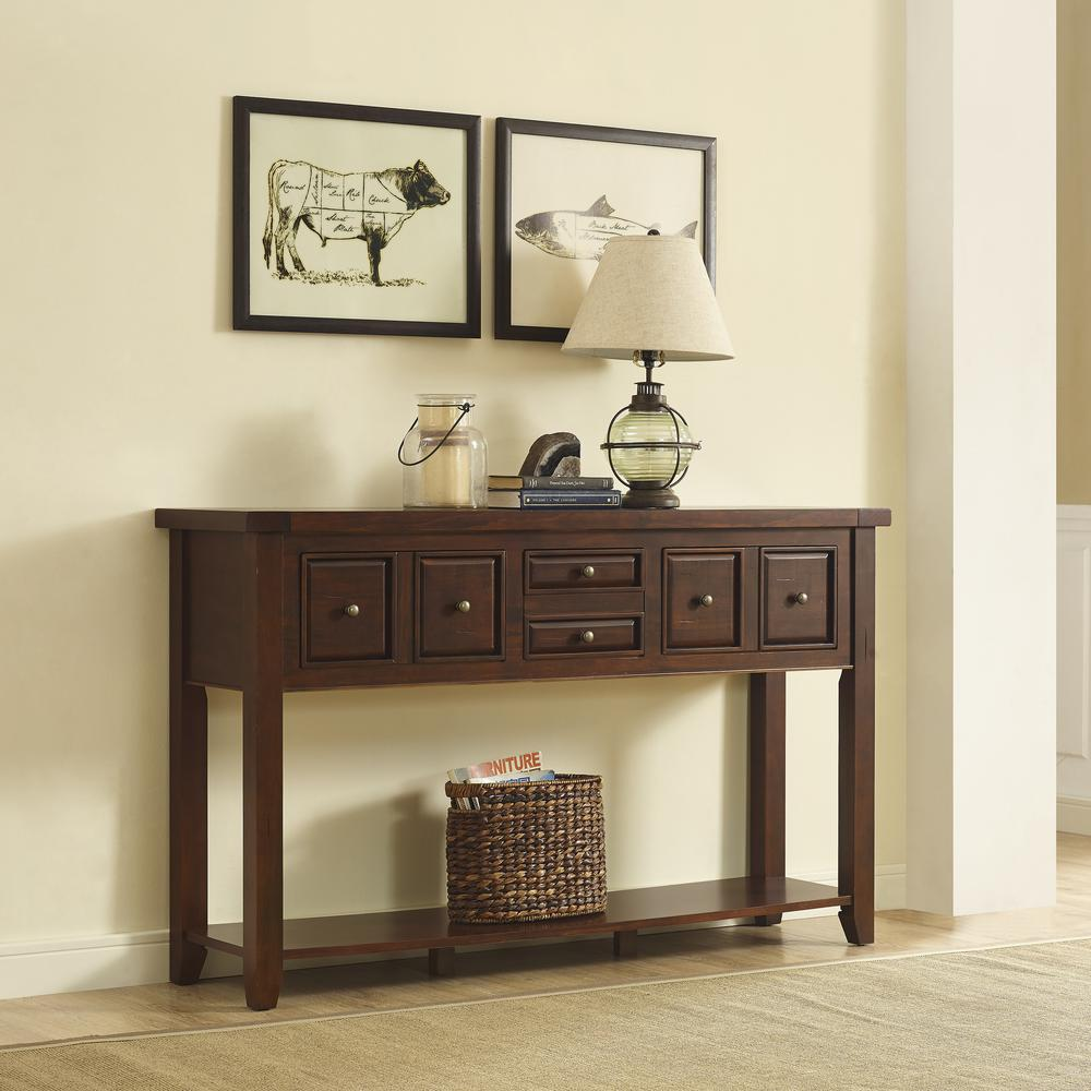 Foyer Console Kit : Sienna entryway table in rustic mahogany