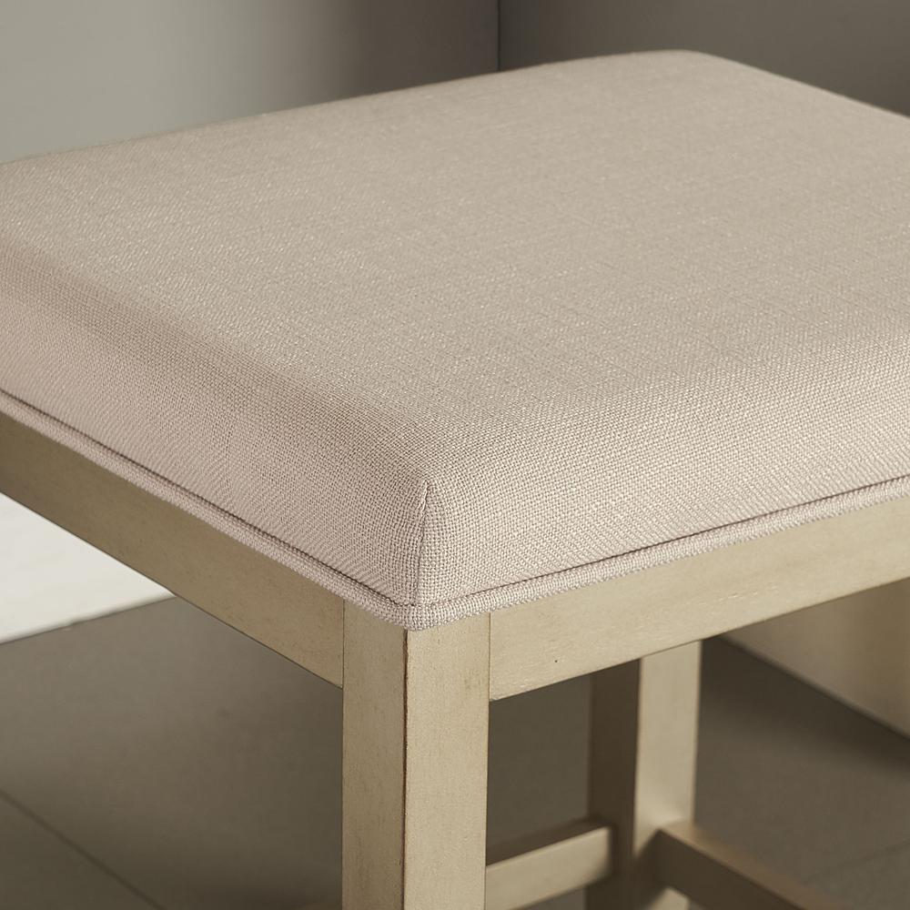 Marvelous Vista Vanity Stool Gold Creme Alphanode Cool Chair Designs And Ideas Alphanodeonline