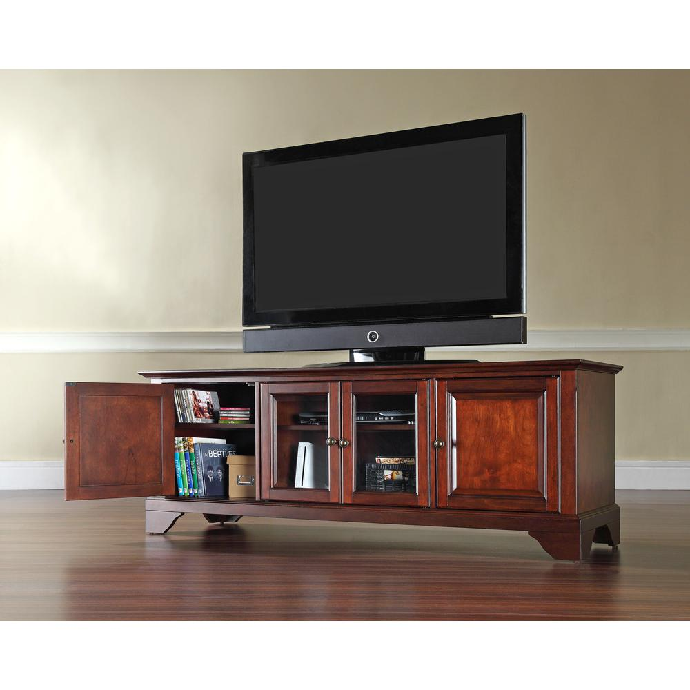 "Lafayette 60"" Low Profile Tv Stand In Vintage Mahogany Finish"