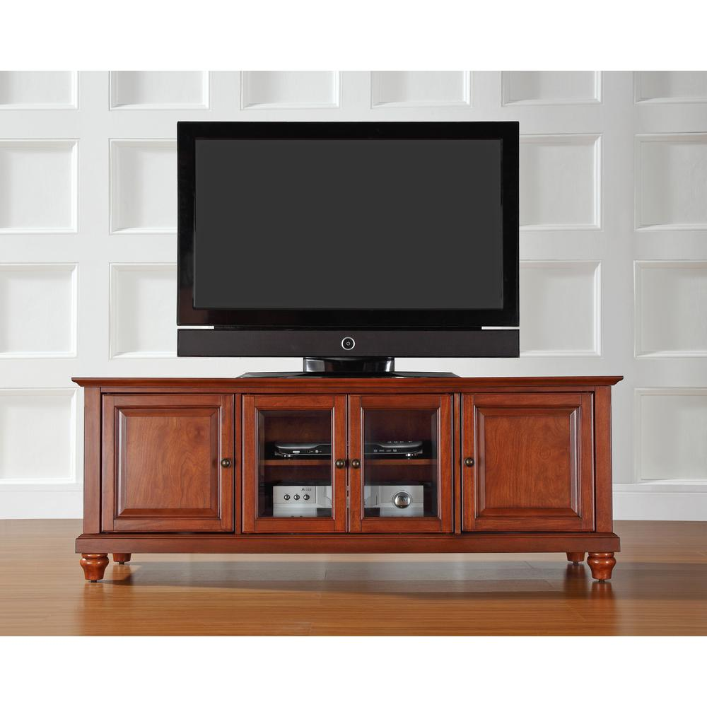 Cambridge 60 Quot Low Profile Tv Stand In Classic Cherry Finish