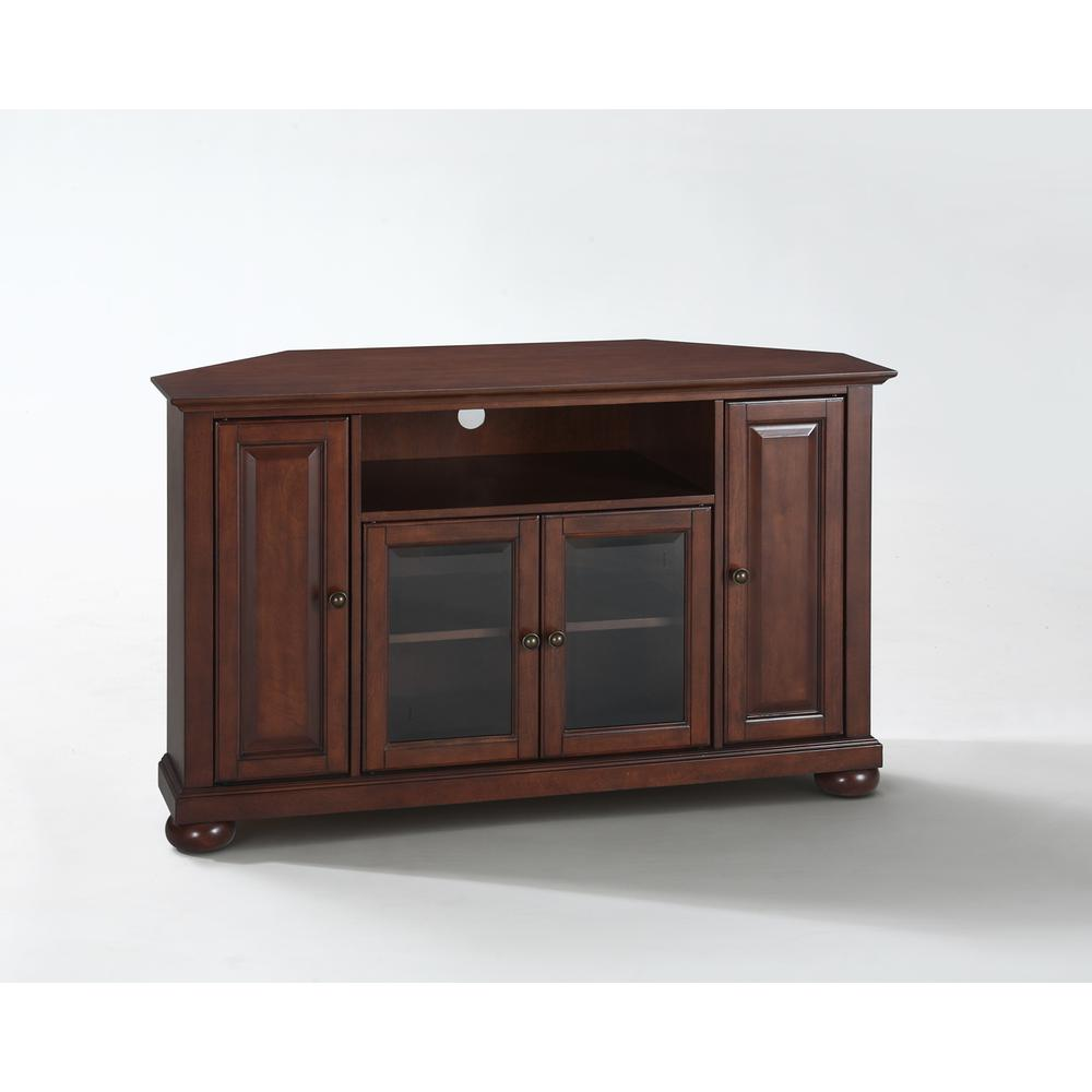 Alexandria 48 Quot Corner Tv Stand In Vintage Mahogany Finish