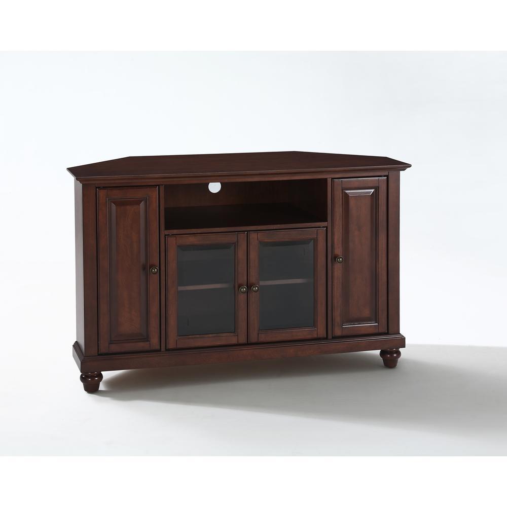 cambridge 48 corner tv stand in vintage mahogany finish. Black Bedroom Furniture Sets. Home Design Ideas