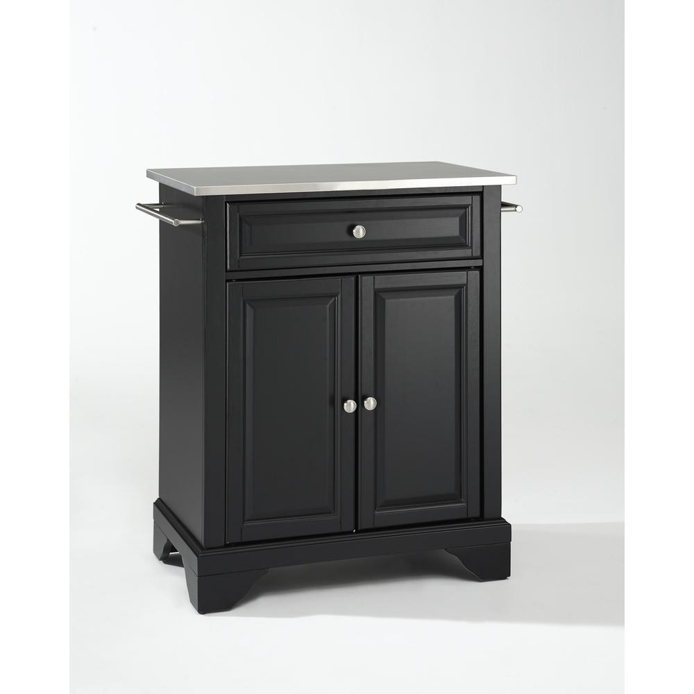 Kitchen Art Lafayette: Lafayette Stainless Steel Top Portable Kitchen Island In