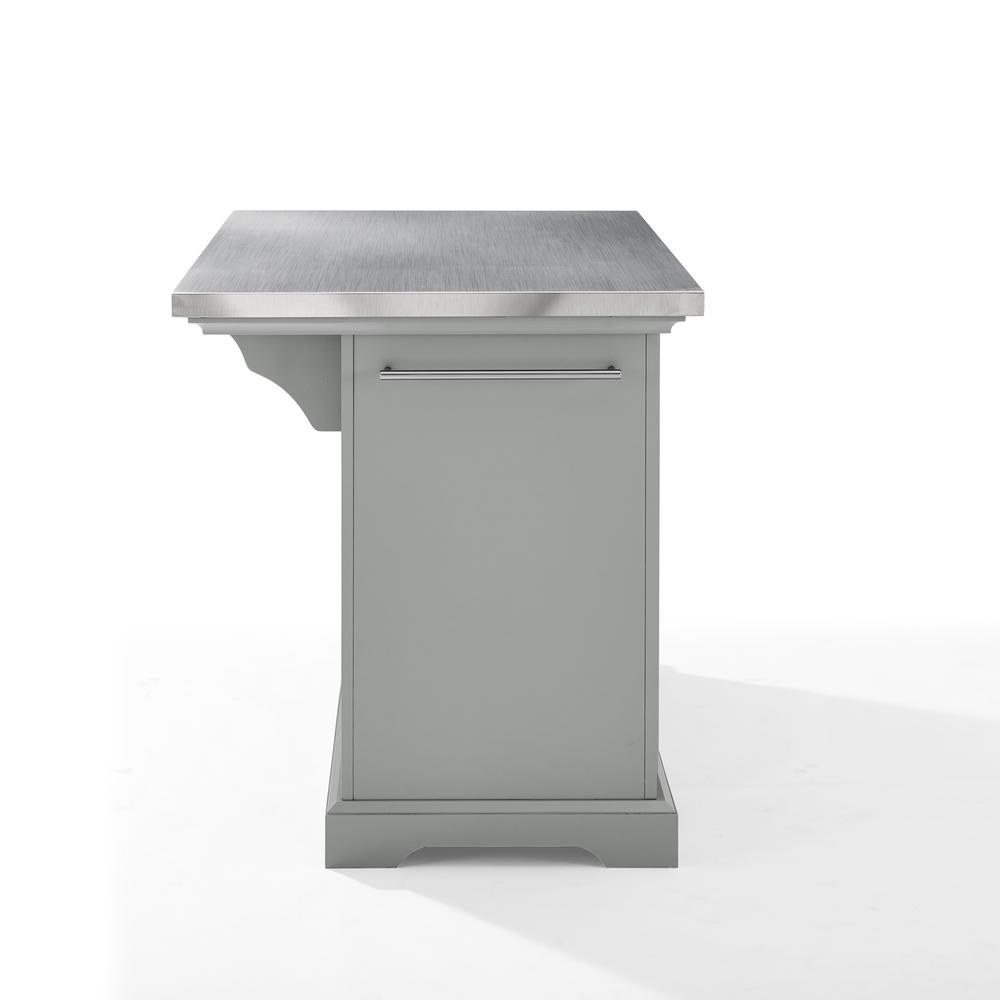 Julia Kitchen Island Gray/Stainless Steel. Picture 13