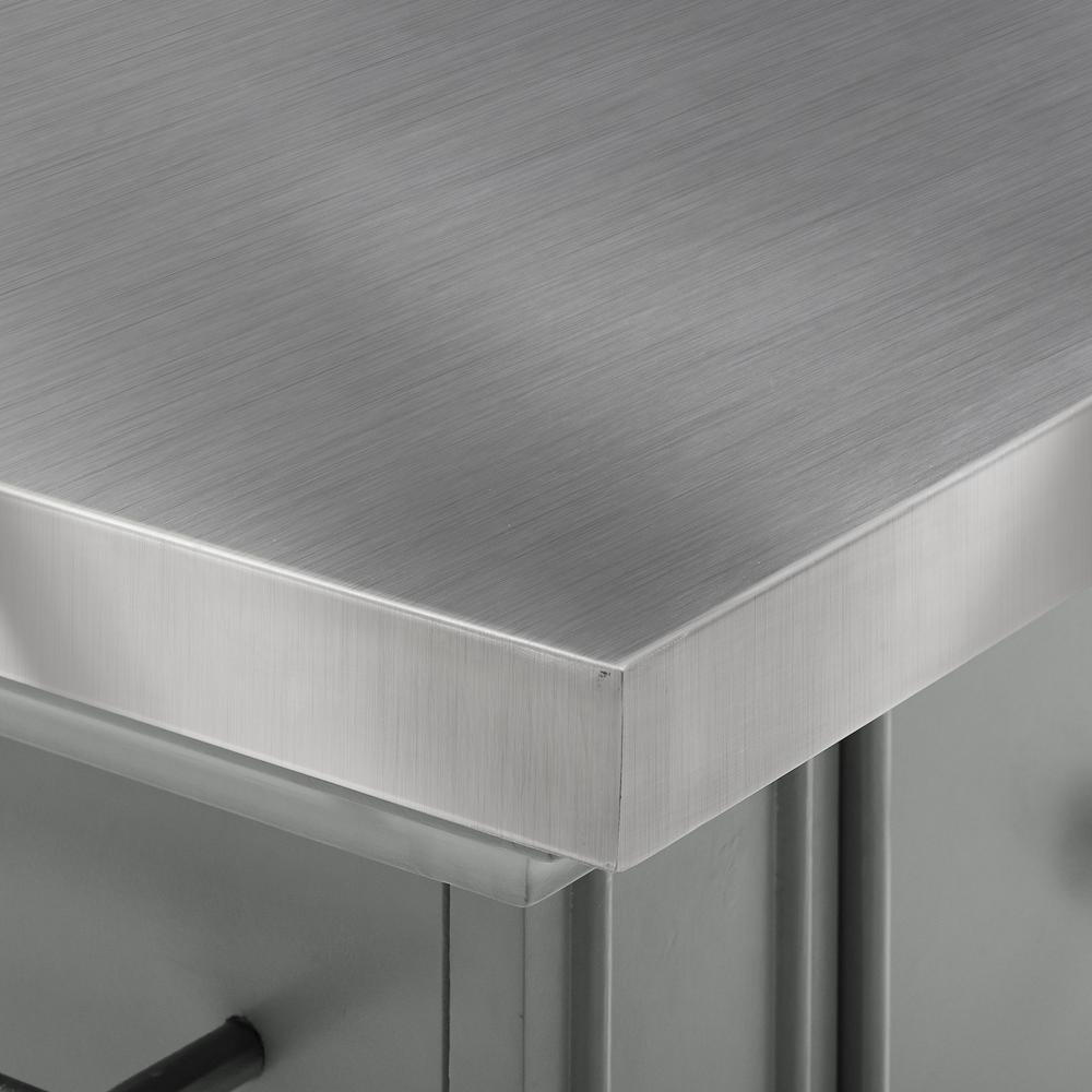 Julia Kitchen Island Gray/Stainless Steel. Picture 15