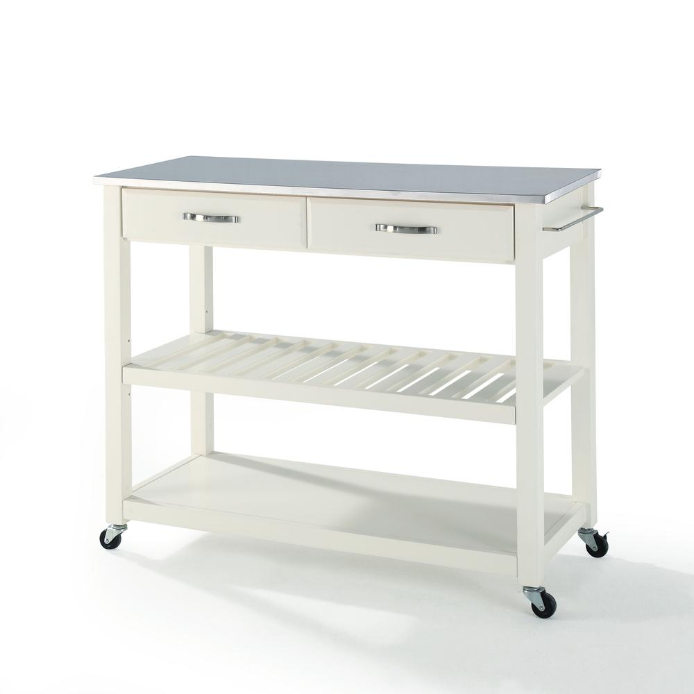 Stainless Steel Top Kitchen Cart W Opt
