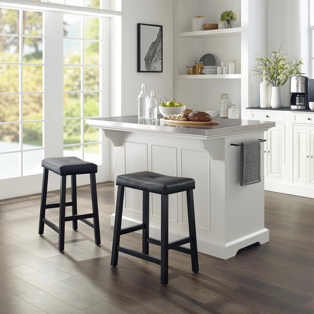 julia island wuph saddle stools whiteblack  kitchen