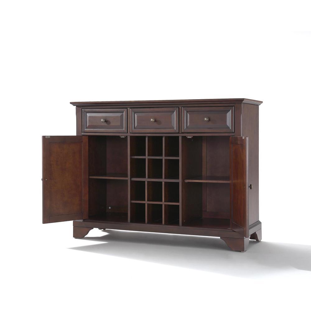 Lafayette Sideboard Cabinet W Wine Storage Mahogany