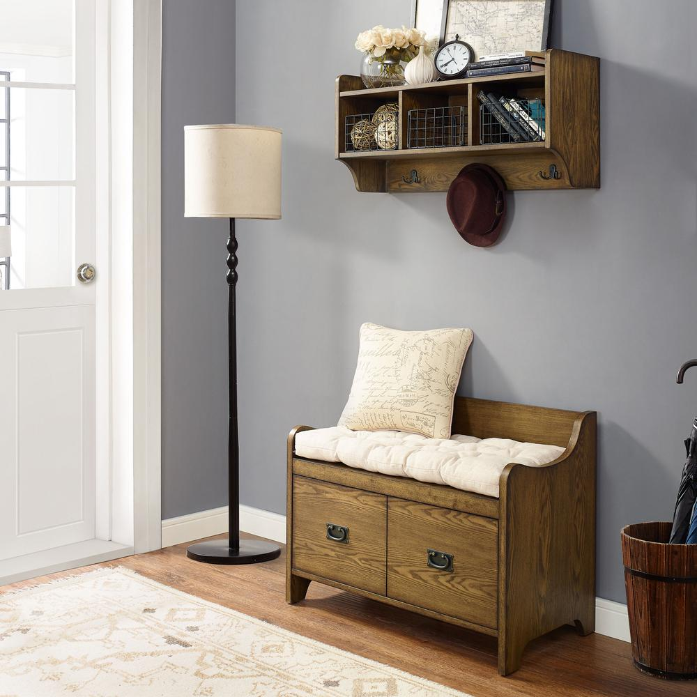 Foyer Mudroom Kits : Fremont pc entryway kit bench shelf in coffee