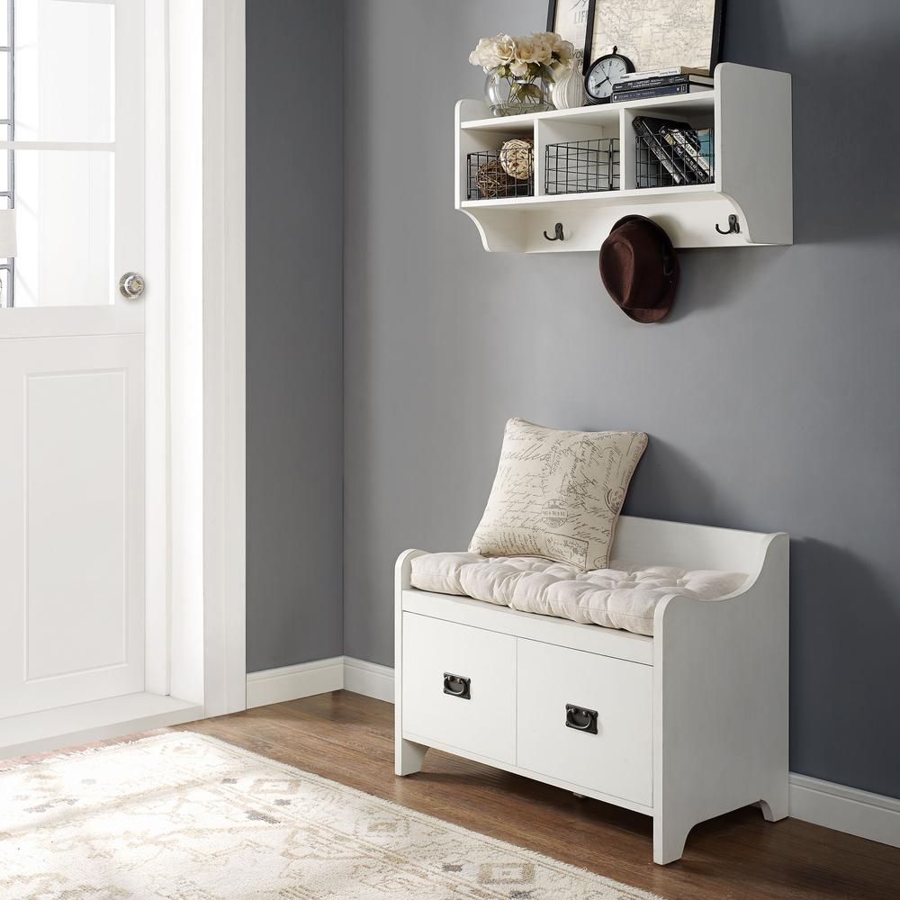 Foyer Hallway Kit : Fremont pc entryway kit bench shelf in distressed white