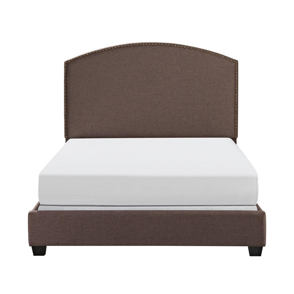Cassie Upholstered Queen Bed Bourbon - Headboard, Footboard, Rails. Picture 4
