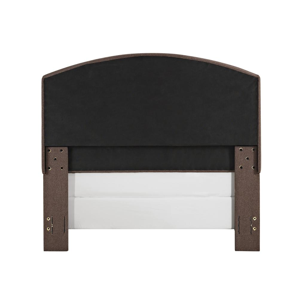 Cassie Upholstered Queen Bed Bourbon - Headboard, Footboard, Rails. Picture 6