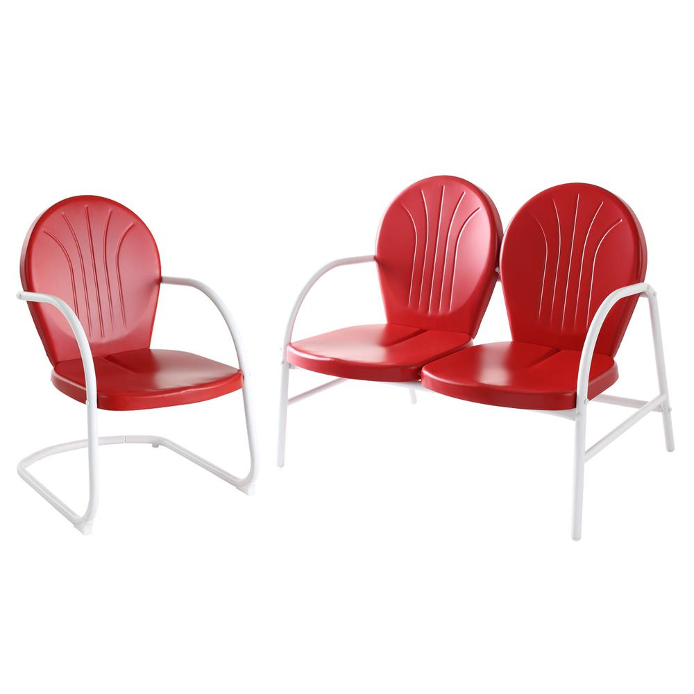 Griffith 2 Piece Metal Outdoor Conversation Seating Set