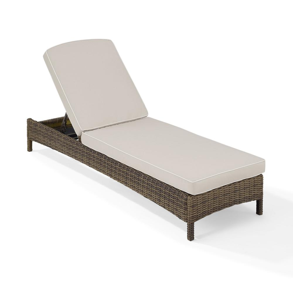 Bradenton chaise lounge with sand cushions for Chaise longue cushions