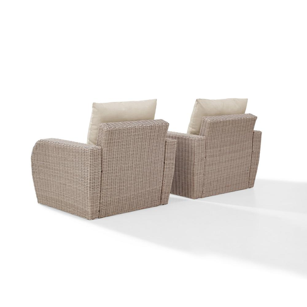 St Augustine 2pc Outdoor Wicker Chair Set Oatmeal