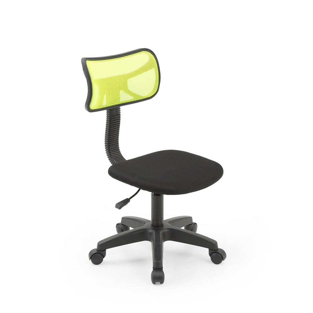 armless mesh back task chair green h30 35. Black Bedroom Furniture Sets. Home Design Ideas