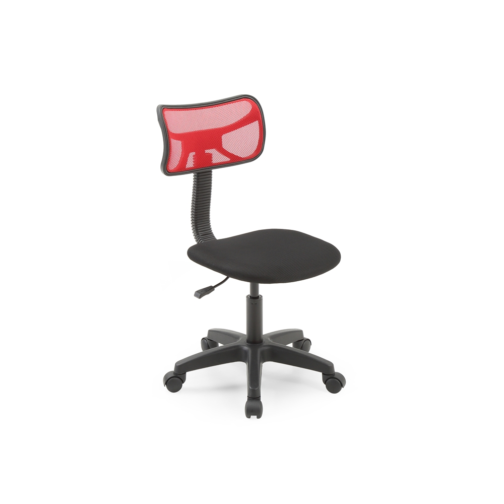 armless mesh back task chair red h30 35. Black Bedroom Furniture Sets. Home Design Ideas