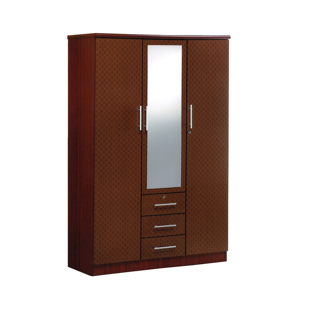 baskets for kitchen cabinets 3 door w mirror mahogany h72 quot 10964