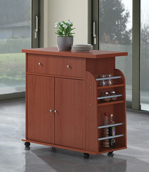 Kitchen Island W Spice Rack Amp Towel Rack Cherry H35 Quot