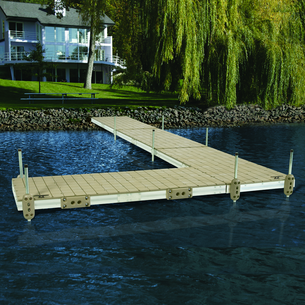 Pre Built Aluminum Floating Dock With Resin Top 4 X10