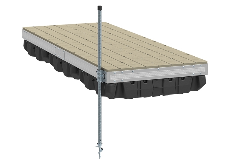 Aluminum Floating Dock 4'x10' w/ Resin Top. Picture 1