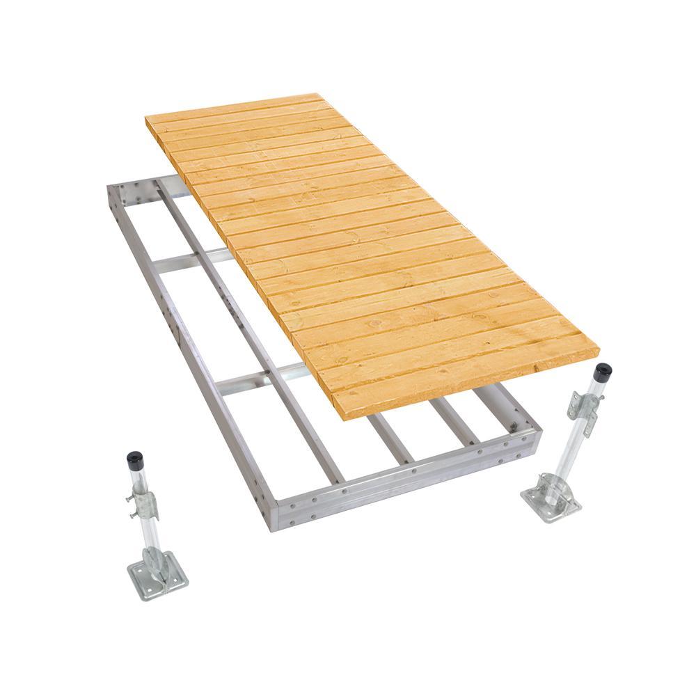 Aluminum Stationary Dock Kit - 4'x10'