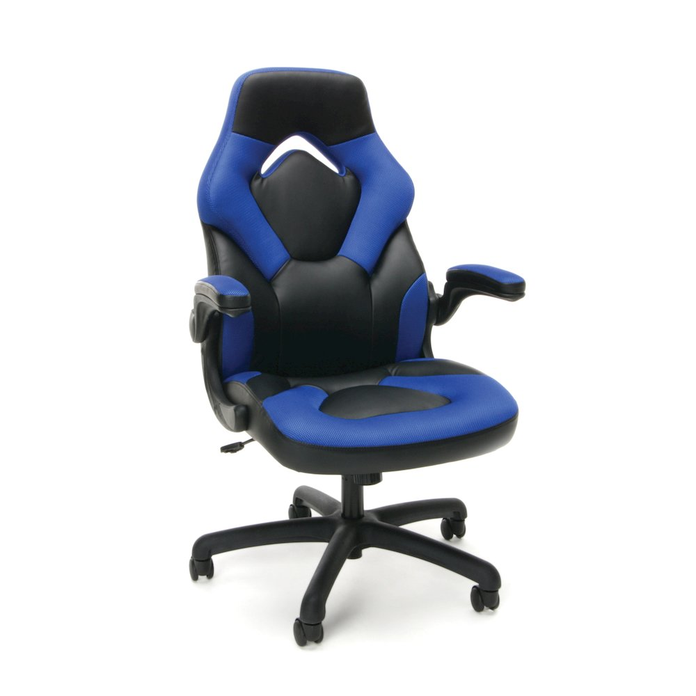 Essentials by OFM Racing Style Leather Gaming Chair. Picture 1