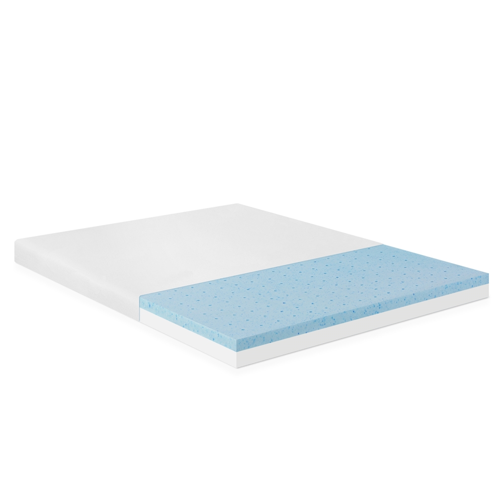 Angeland 4-Inch Gel Infused Memory Foam Mattress Topper, Queen,. Picture 1