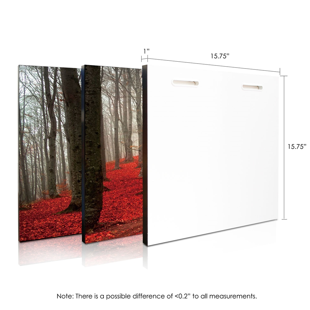 SeniA Wall Mounted Triptych Photography Prints, Dawn Forest, Set of Three. Picture 2