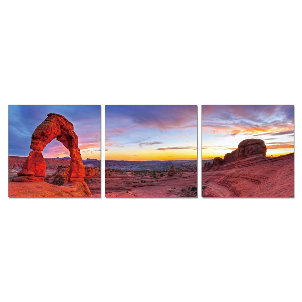 SeniA Wall Mounted Triptych Photography Prints, Declicate Arch, Set of Three. Picture 1