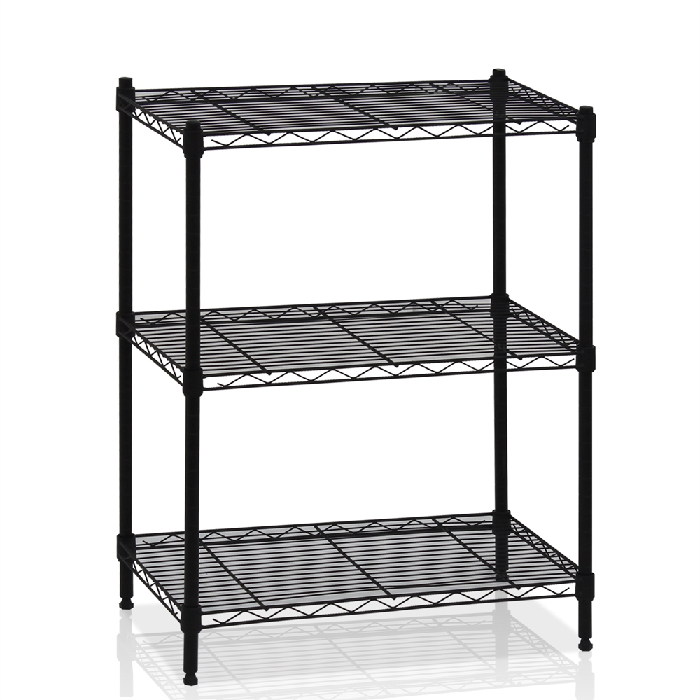 Wayar 3-Tier Heavy Duty Wire Shelving Black,. The main picture.
