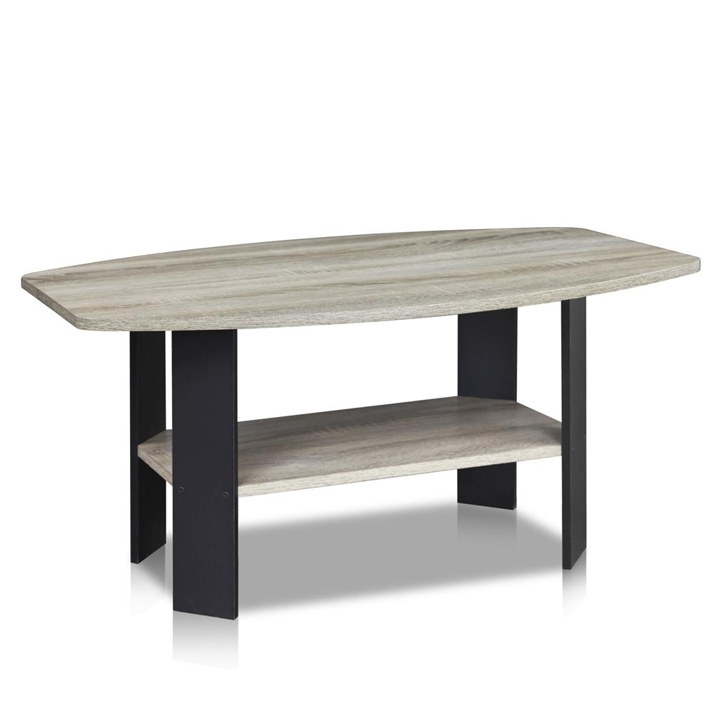 Simple Design Coffee Table, Oak Grey/Black. Picture 1
