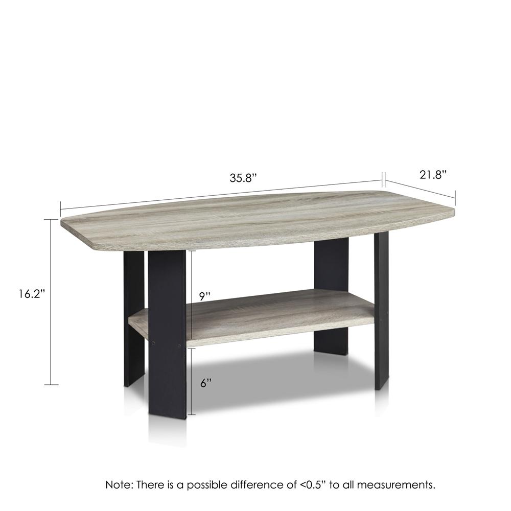 Simple Design Coffee Table, Oak Grey/Black. Picture 2