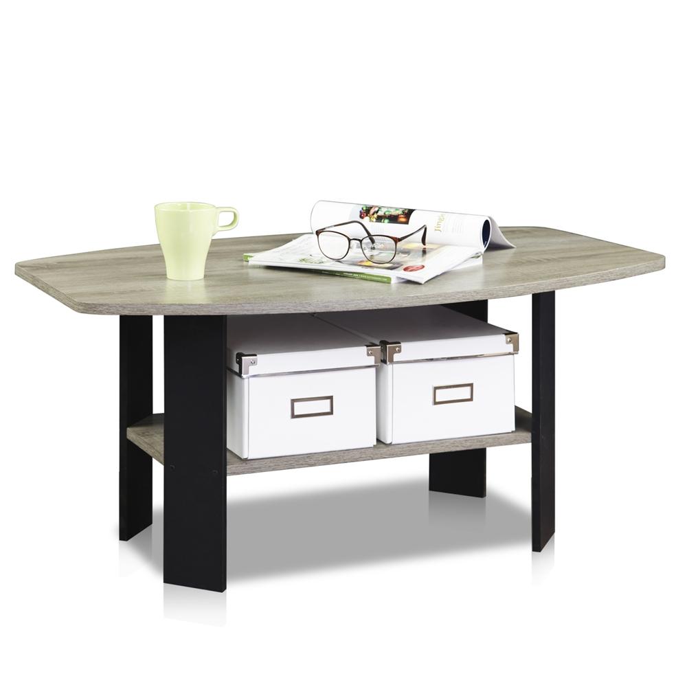 Simple Design Coffee Table, Oak Grey/Black. Picture 4