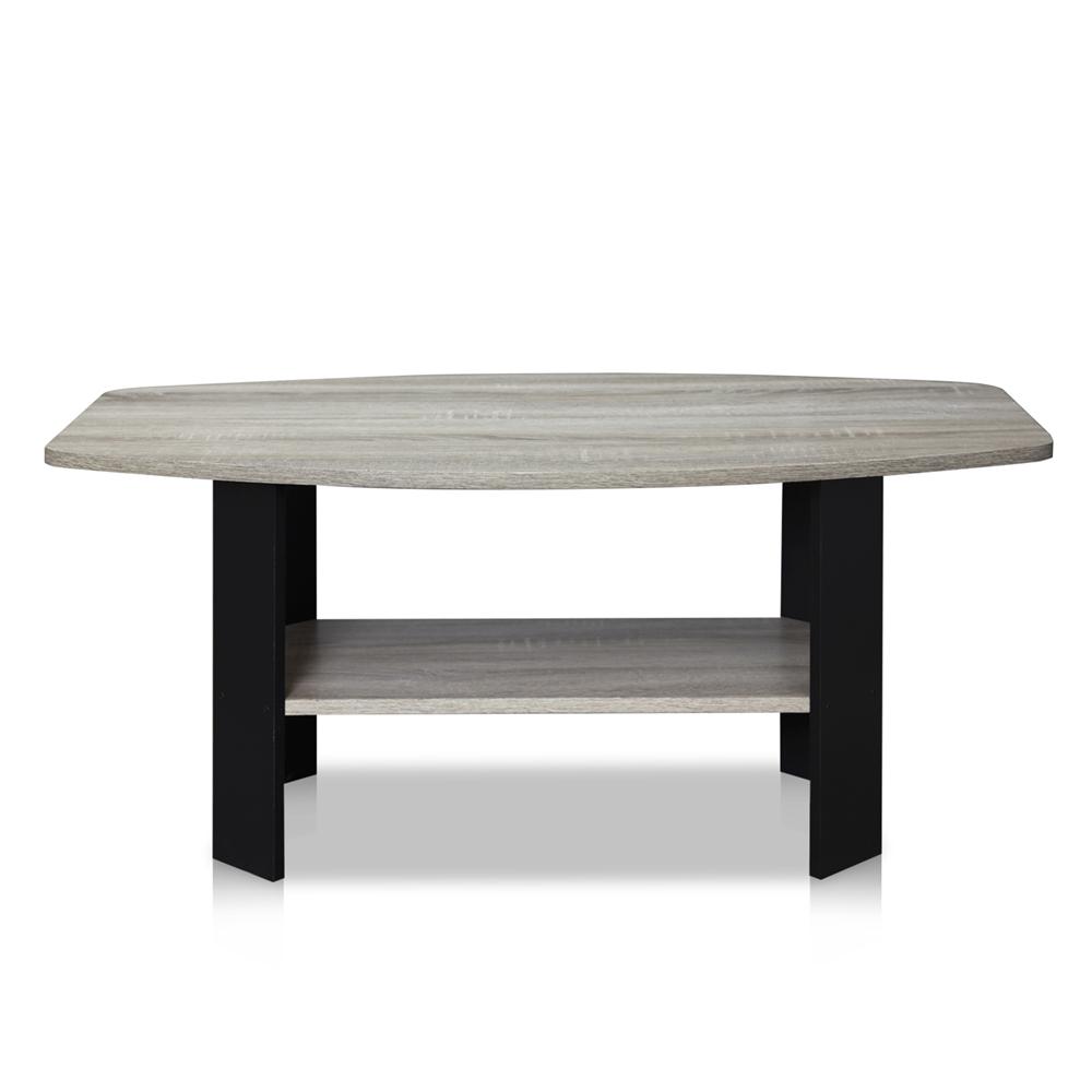 Simple Design Coffee Table, Oak Grey/Black. Picture 5