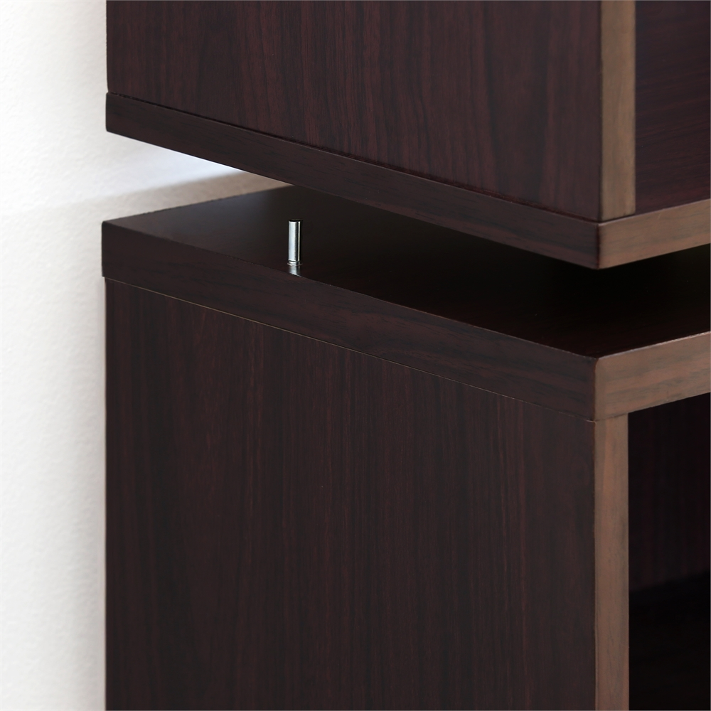 Indo  Petite Stackable 2-Drawers Storage Cube, Espresso. Picture 6