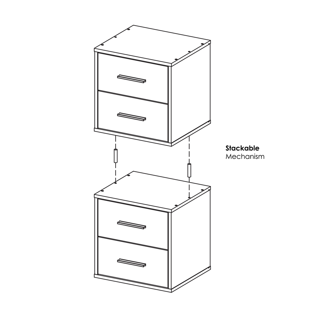 Indo  Petite Stackable 2-Drawers Storage Cube, Espresso. Picture 7
