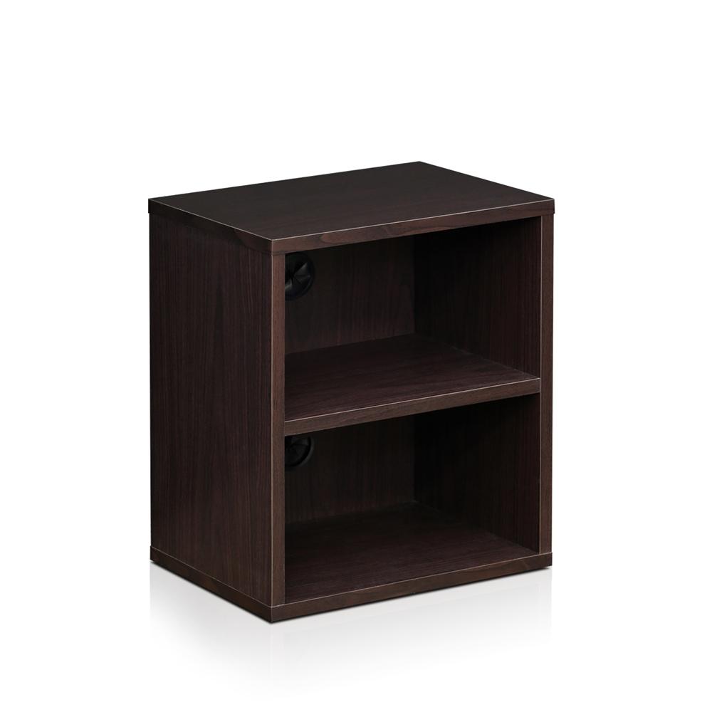 Indo 3 tier petite audio video display shelf espresso for Petite table tv