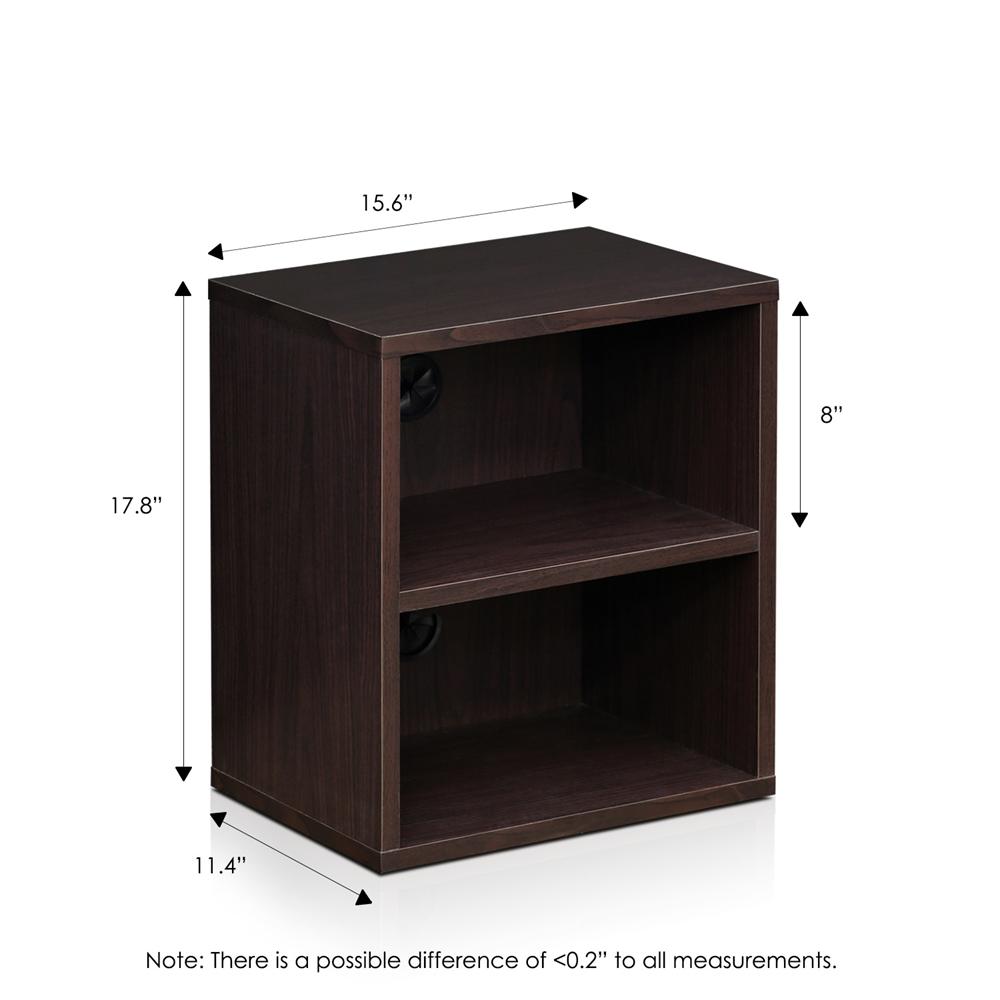 Indo  3-Tier Petite Audio Video Display Shelf, Espresso. Picture 2