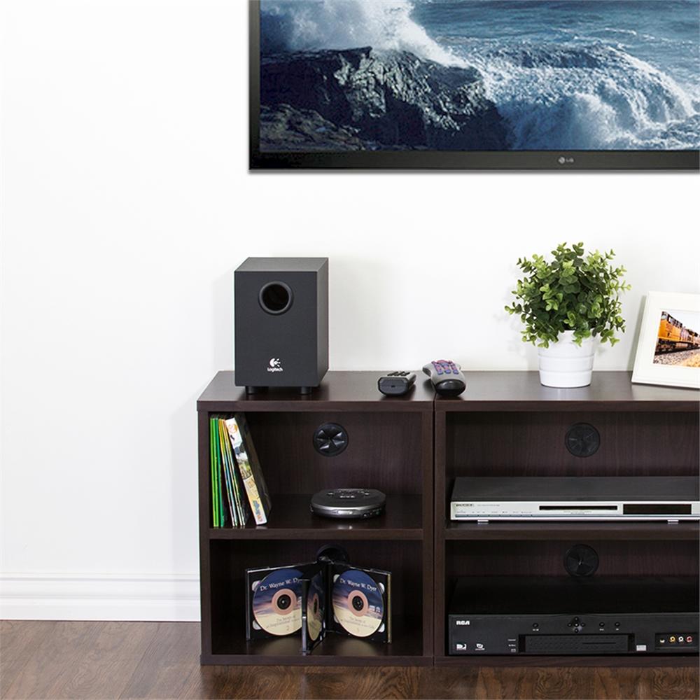 Indo  3-Tier Petite Audio Video Display Shelf, Espresso. Picture 5
