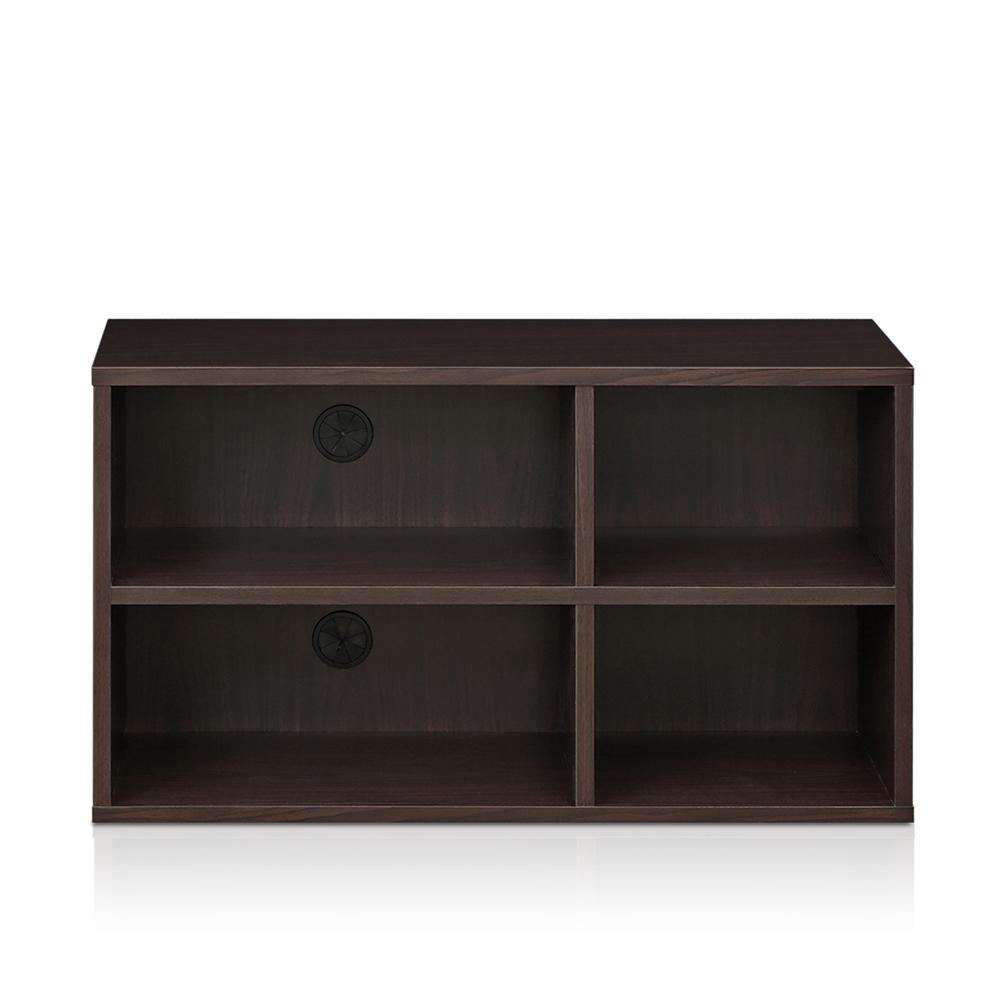 Indo  2x2 Petite Audio Video Storage Shelf, Espresso. Picture 3