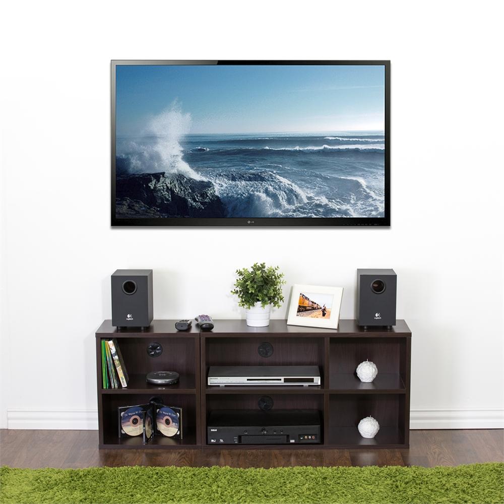 Indo  2x2 Petite Audio Video Storage Shelf, Espresso. Picture 5
