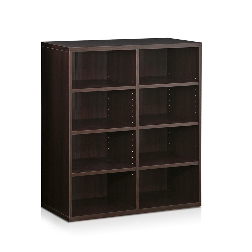 Indo  4x2 Stackable Accessories Storage Shelf, Espresso. The main picture.